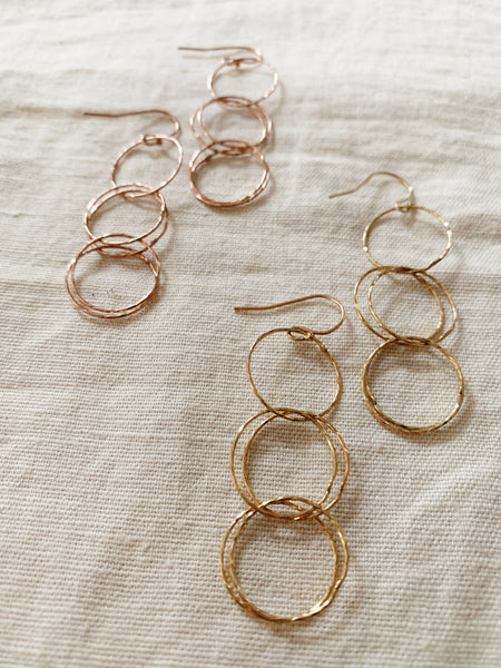 Rebecca Scott: Circle Earrings (Long)