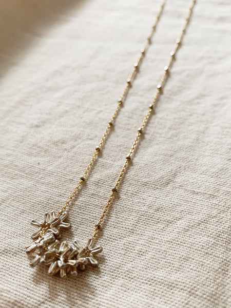 Rebecca Scott: Gold Flower Necklace