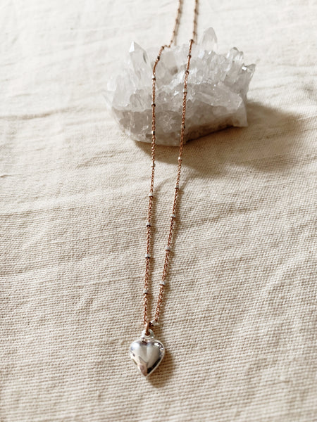 Rebecca Scott: Rose Heart Necklace