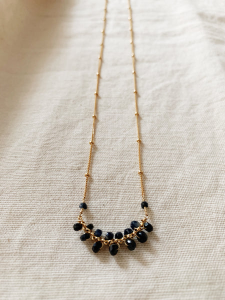 Rebecca Scott: Sapphire Gem Necklace – 14k Gold Fill