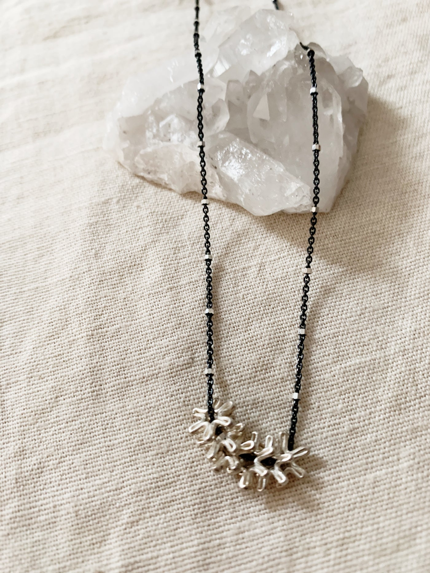 Rebecca Scott: Silver Flower Necklace