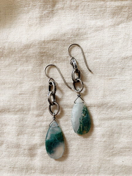 Tasi Designs: Moss Agate Earrings