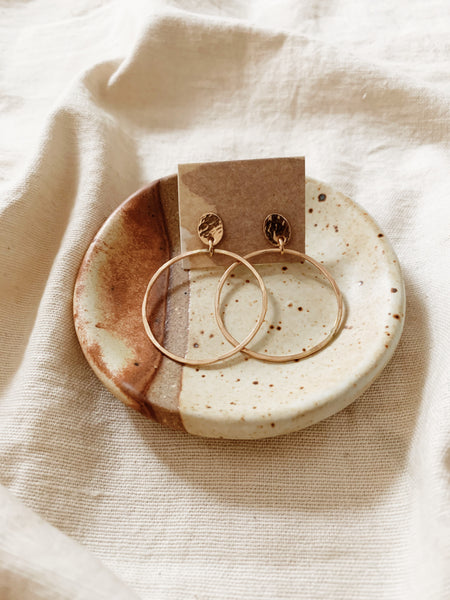 Tumbleweed Gold Stud + Circle Earrings