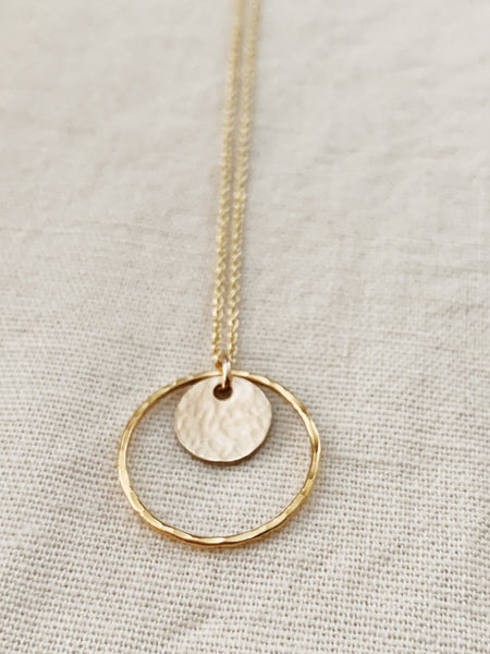 Tumbleweed: Two Circles Necklace