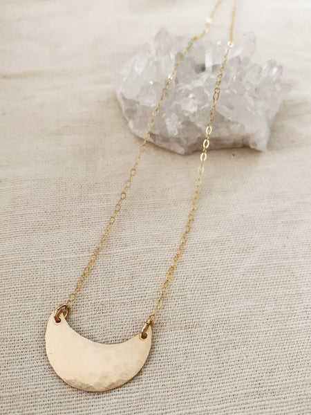 Tumbleweed: Crescent Moon Necklace