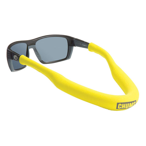 Chums FLOATING Sunglasses retainers [FLOATATION:High NEO MEGA Float][Retainer Colour:Yellow]