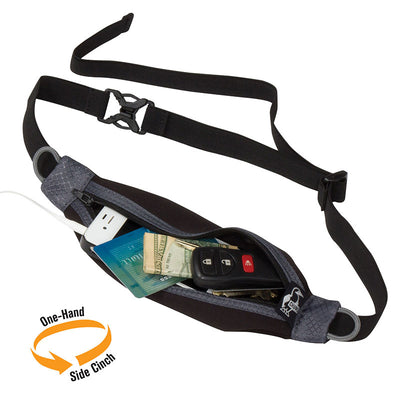 Chums Mini Neo Waist Pack, Black/Gray