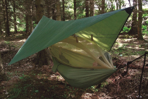 Highlander Crusader Hammock inc Mosquito Net, Hanging Kit & Tarp