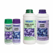 Nikwax Down Proof/Downwash Direct Twin Pack 1Ltr or 300ml