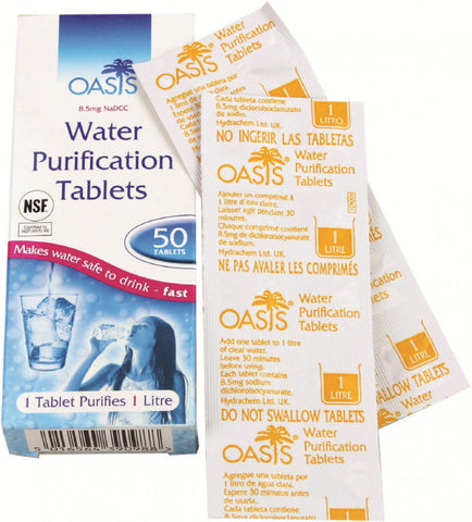 Highlander Aquaclear water purification tablets, 50 tablets, FA013