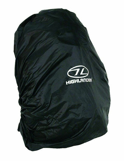 Highlander Waterproof Rain Cover Inc Stuff Sack Black Medium 40-50ltr