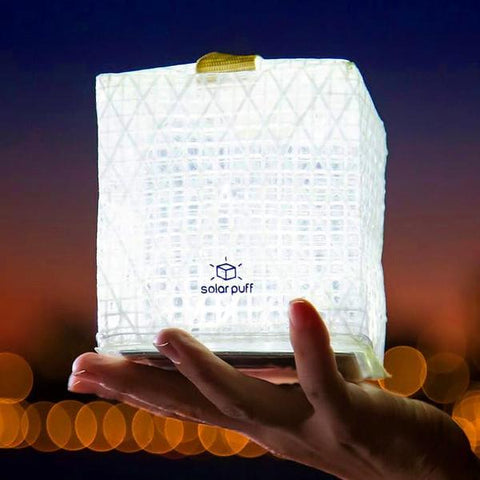 Solight Design Solar Puff Portable Compact LED Solar Lantern