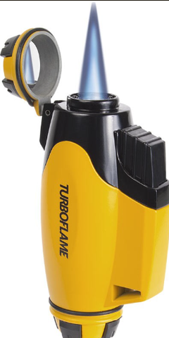 New Turboflame Phoenix Bumblebee Yellow Wind Resistant Jet Torch Flame Lighter