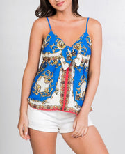 Baroque Front Knot Top