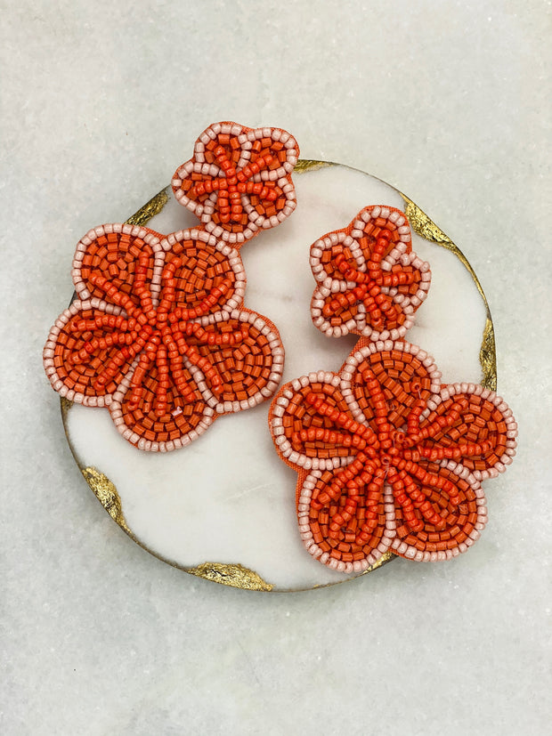 Rosita Statement Earring              Coral on Blush