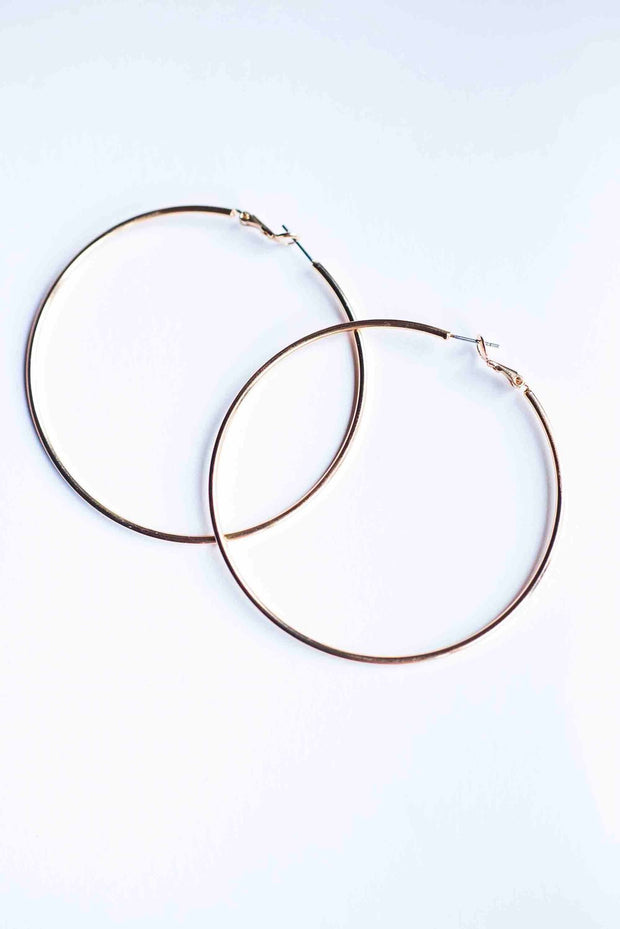 Over Sized Gold Hoops