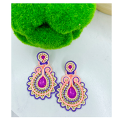 Debbie Multi Lavender Statement Earrings