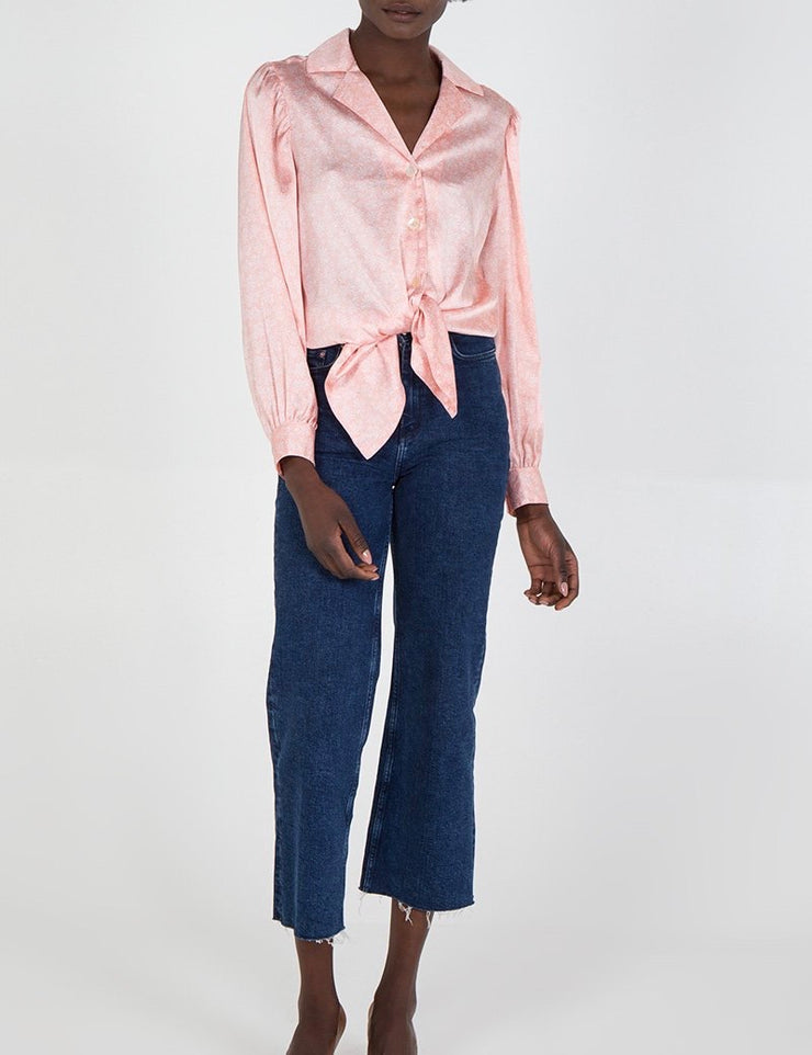 Summer Rose' Button Up Blouse