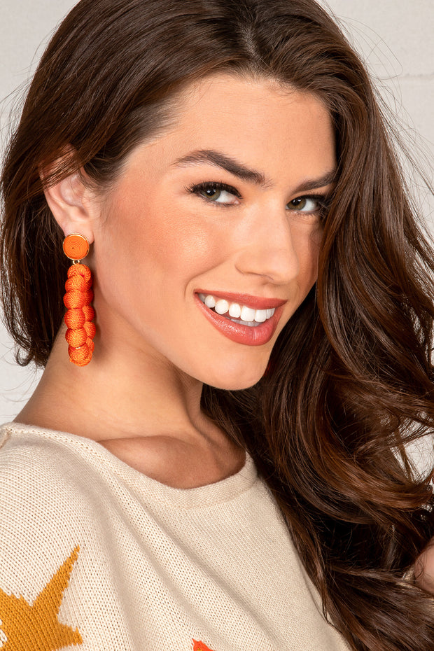 Ashley Orange Hoop Earrings