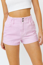 Light Pink Denim Shorts