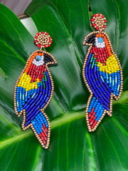 Paradise Found Parrot Statement Earrings