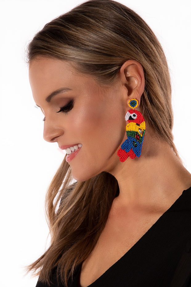 Treasure Jewels Parrot Earring