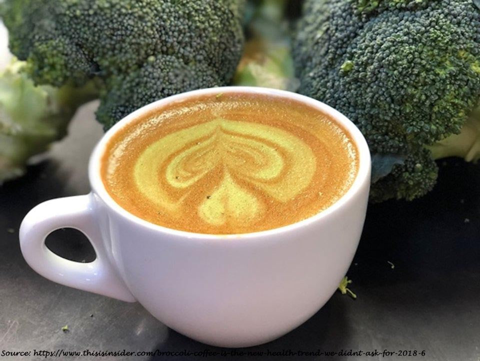 'Broccoli coffee' is the new health trend we didn't ask for