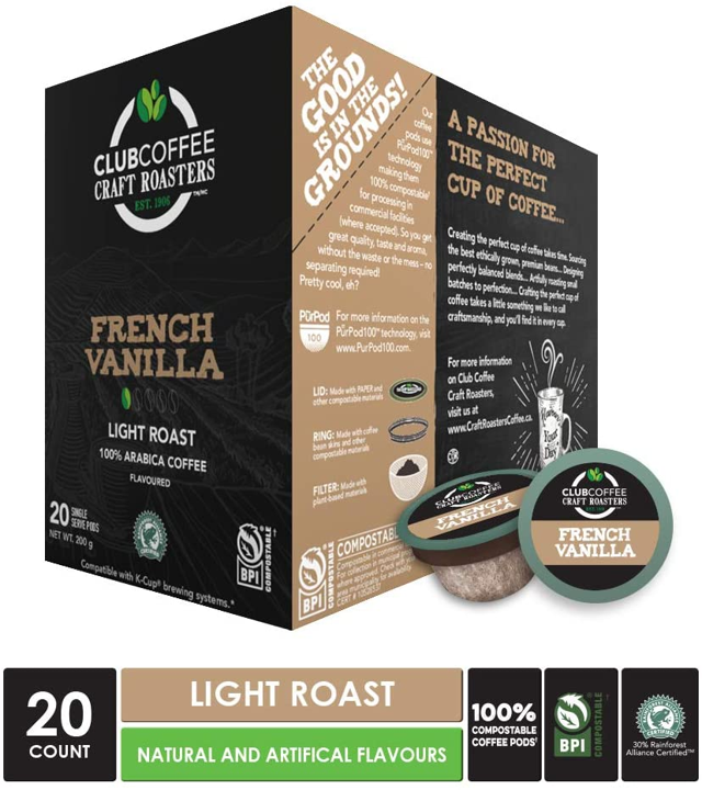 French Vanilla Overwrap 20ct - COMPOSTABLE PODS