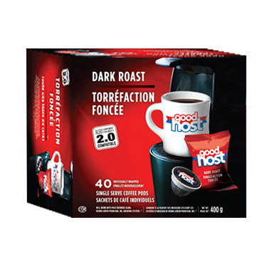 Good Host | Dark Roast 40ct | K-Cup Keurig Compatible Coffee