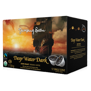 Jumping Bean Coffee | Deep Dark Water | K-Cup Keurig Compatible Coffee