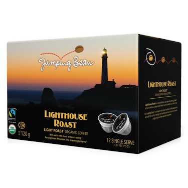 Jumping Bean Coffee | Lighthouse Roast | K-Cup Keurig Compatible Coffee