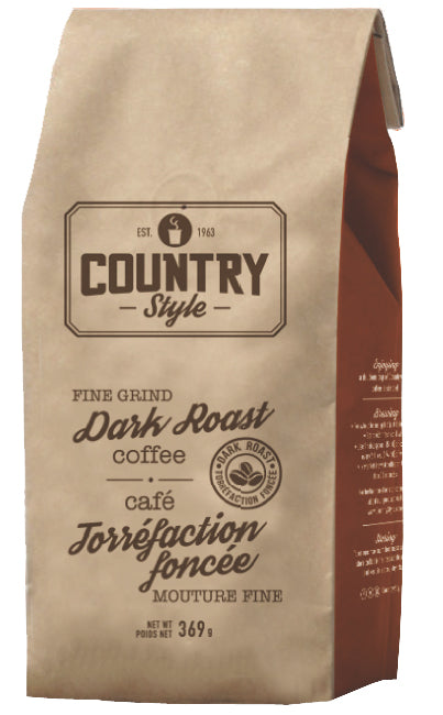 Country Style - Dark Roast Fine Grind - Bagged Coffee