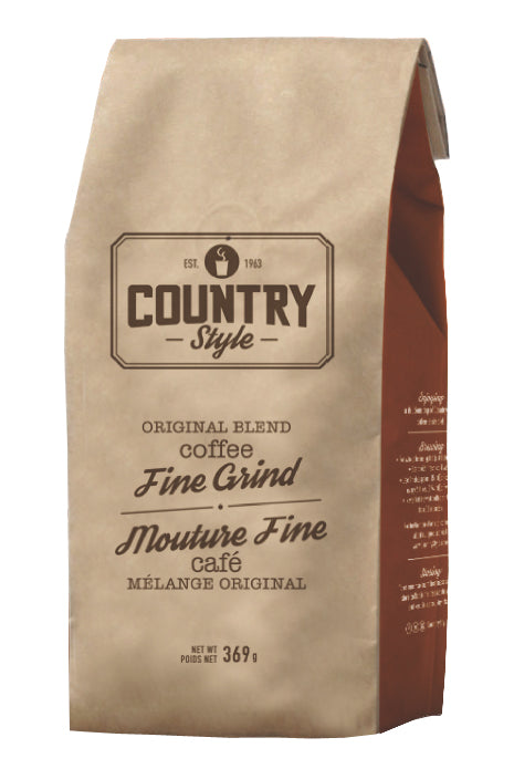 Country Style - Original Blend - Fine Grind - Bagged Coffee