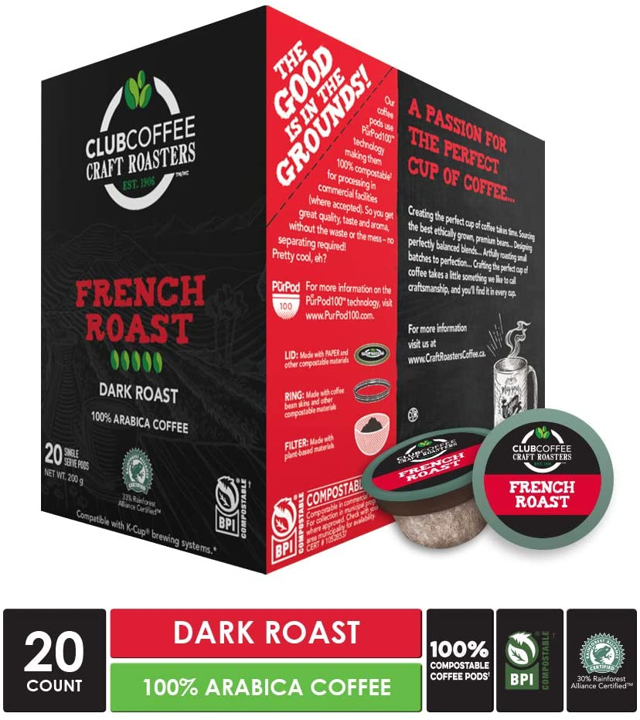 French Roast Overwrap 20ct - COMPOSTABLE PODS