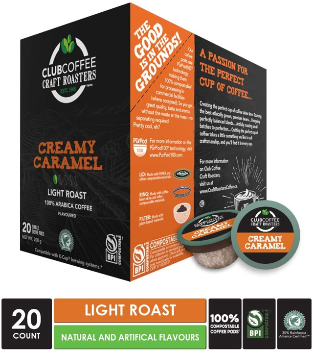 Creamy Caramel Overwrap 20ct - COMPOSTABLE PODS