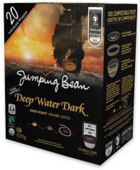 Jumping Bean Coffee - Deep Dark Water Overwrap 20ct - Compostable