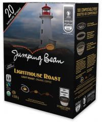 Jumping Bean Coffee - Light House Roast Overwrap 20ct - Compostable