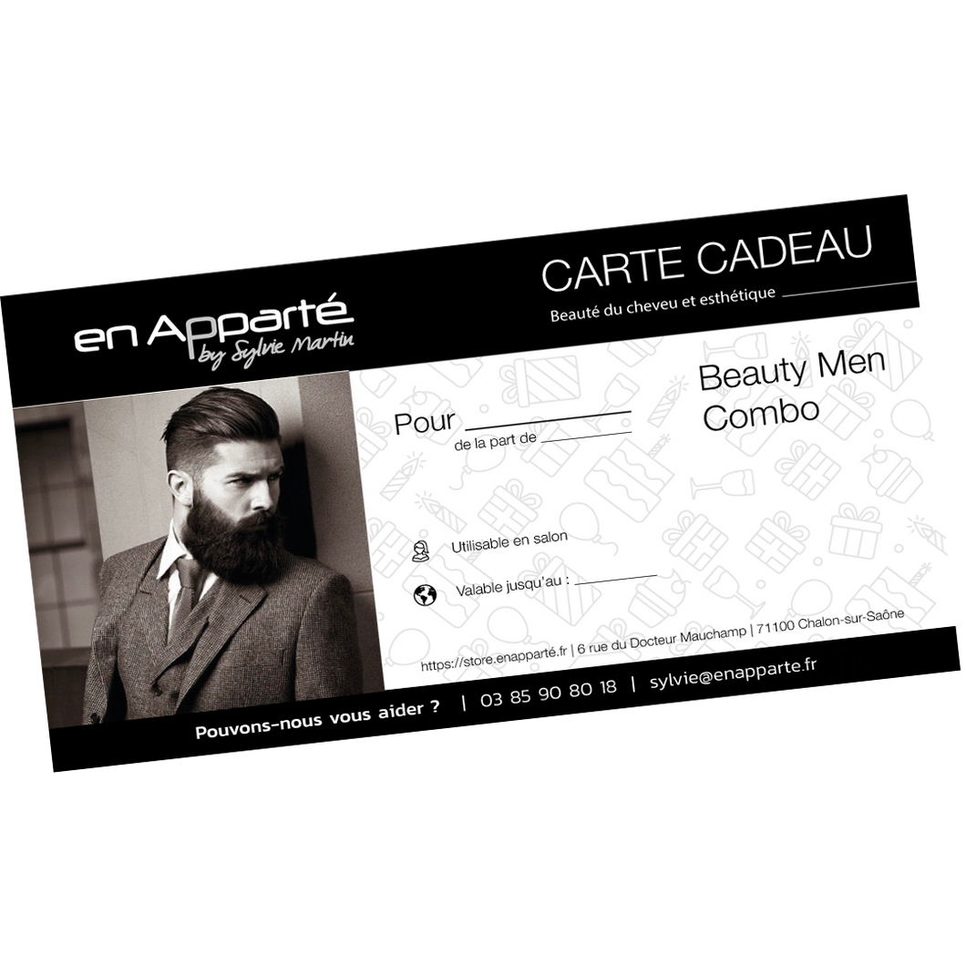 Carte cadeau BEAUTY MEN COMBO - 1h30