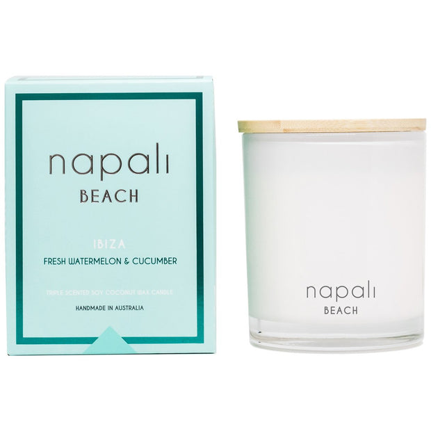 Napali Beach - Ibiza - Fresh Watermelon & Cucumber Candle 400g