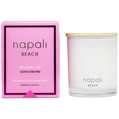 Napali Beach - Seychelles - Guava & Paw Paw Candle 400g
