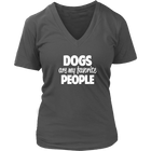 Dogs Are My Favorite People - Ladies V-Neck