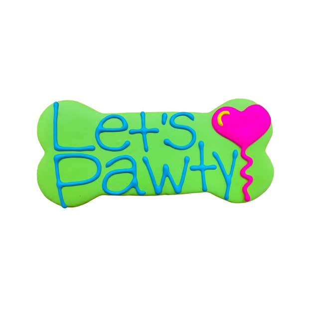 """Let's Pawty 6"""" Dog Cookie 1"""