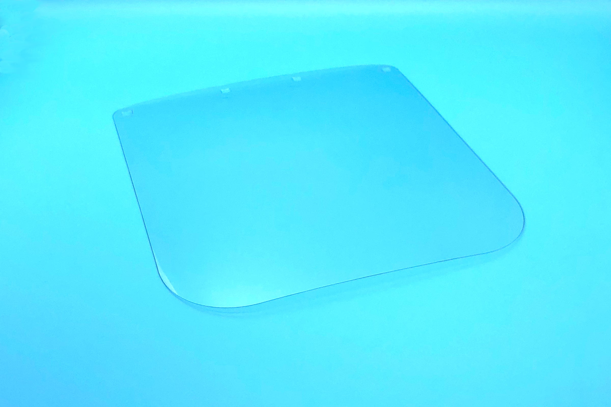 Face Shield Film, 24 cm x 24.5 cm, clear, pre-punched, protective film