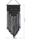 Black Boho Macrame Wall Hanging