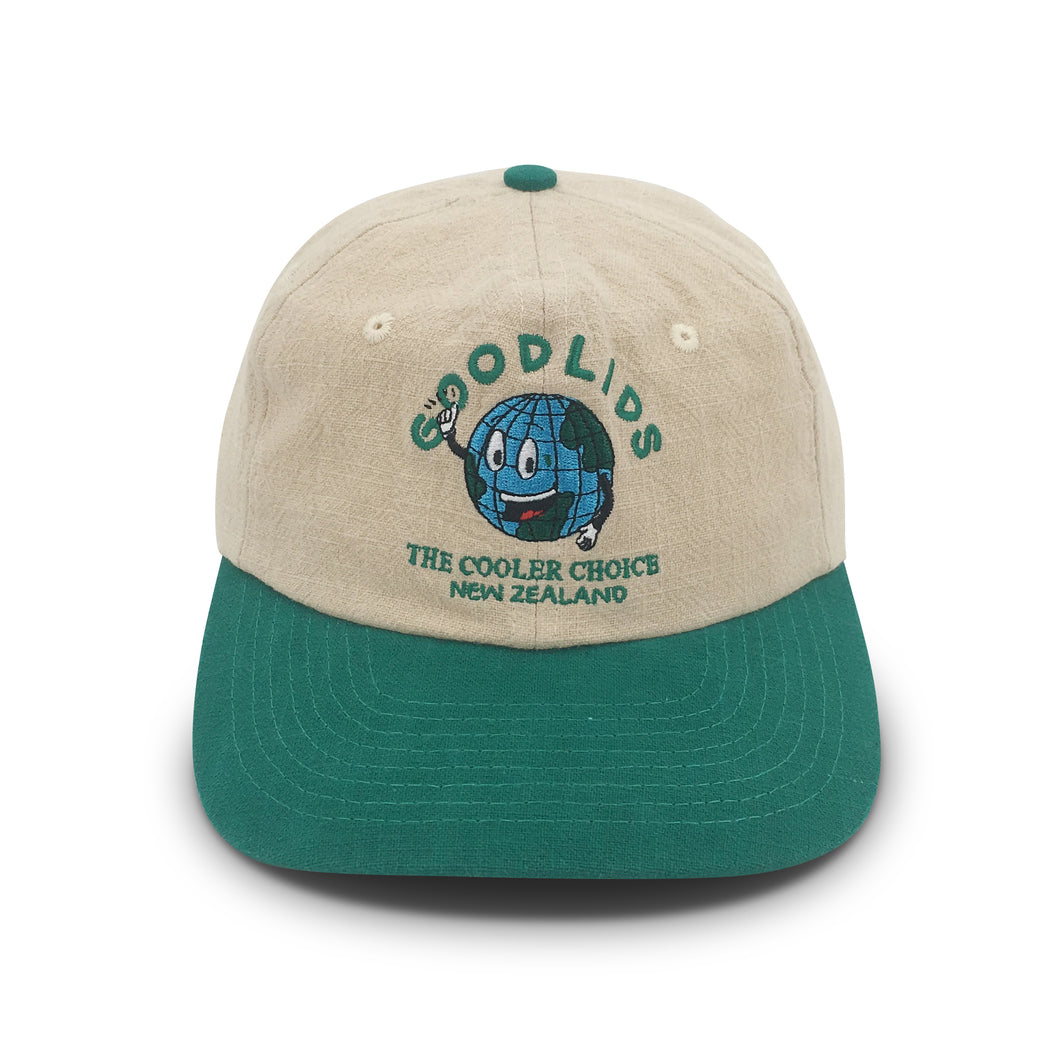 Cooler Choice Lid - Cream/Green - Goodlids