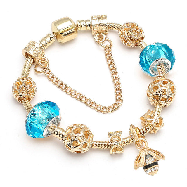 Save Animal Spirits Turquoise Bee Bracelet