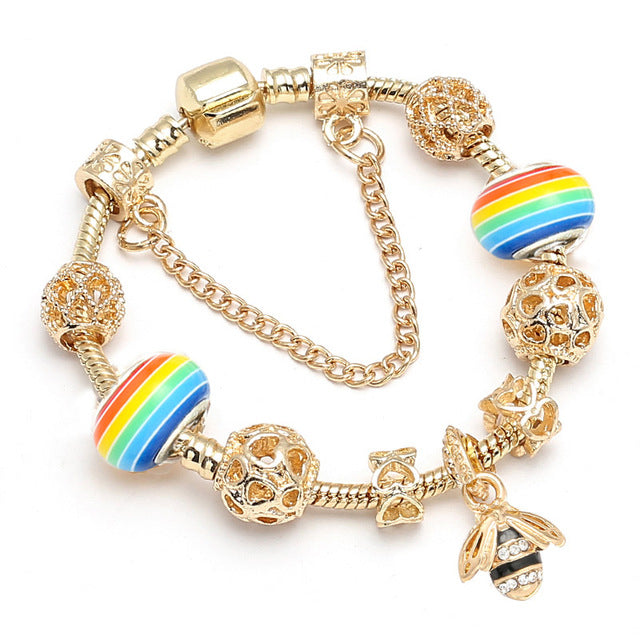 Save Animal Spirits Rainbow Bee Bracelet