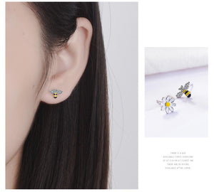 Flowering Bee Earings