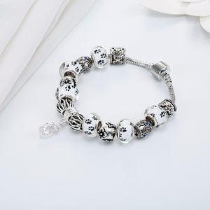 Save Animal Spirits White Dog Paw Bracelet
