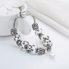 Load image into Gallery viewer, Save Animal Spirits White Dog Paw Bracelet